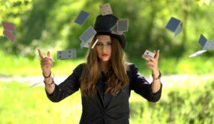 Doing card tricks