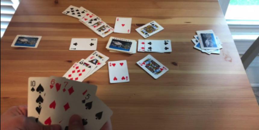 Kings in the Corner Card Game